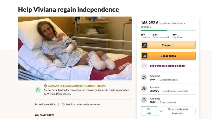 Recolectan dinero para una vecina de Ibiza a la que han tenido que amputar pies y manos