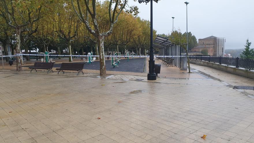 Benavente cierra los paseos de la Mota y el carril bici debido al temporal