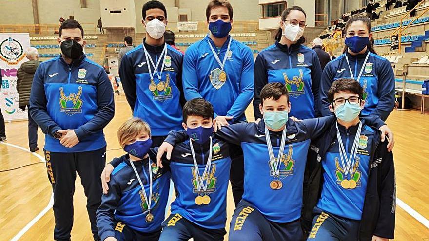 El Keltoi consigue dos segundos puestos por equipos en la Copa Galicia
