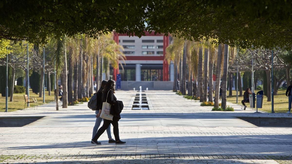 Alumnos en la UA antes de la pandemia