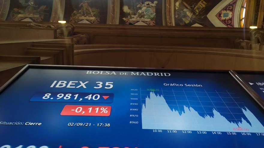 El Ibex 35 pierde los 8.900 puntos y cae un 0,6% en la semana