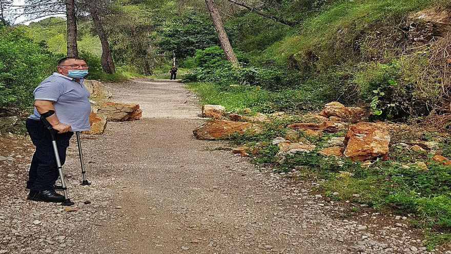 La vía verde del Serpis se desmorona sin que se sepa nada del anunciado plan de rehabilitación