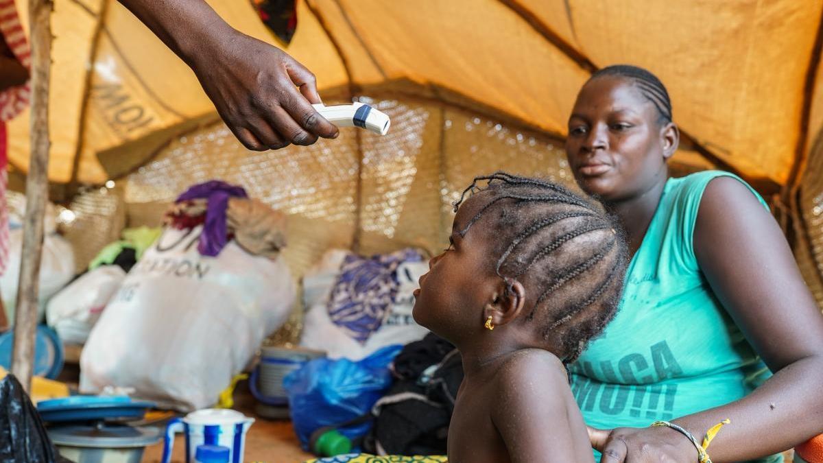Campaña de vacunación contra la pneumonía.