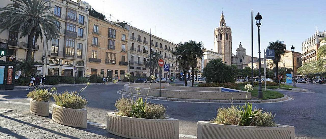 Imagen de la plaza de la Reina tomada hace pocos días.