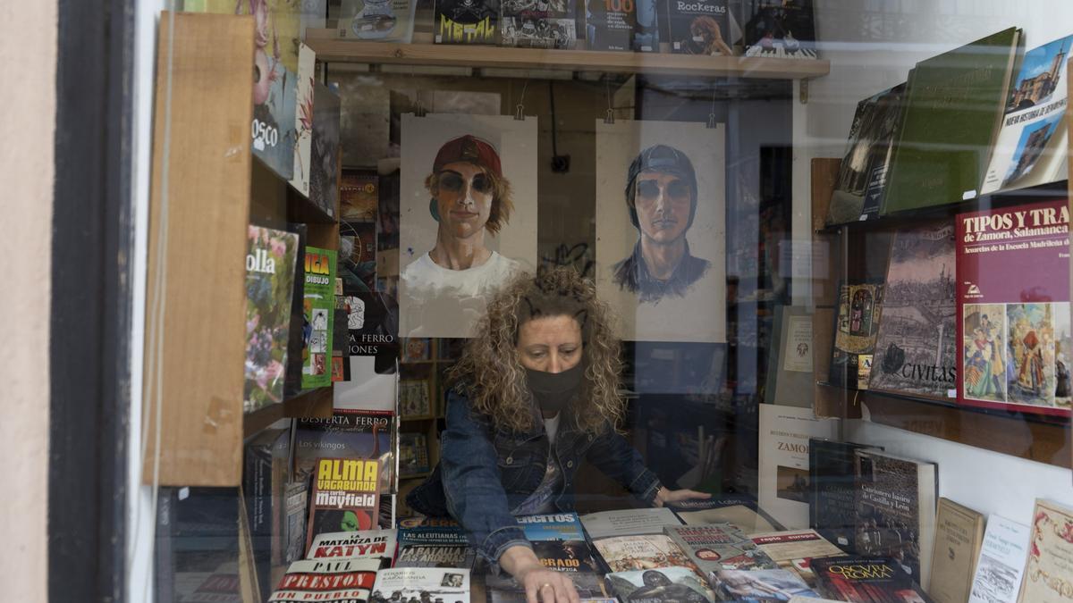 Una librería de Zamora capital.