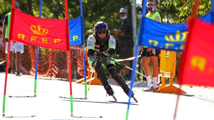 Brugués Grau i l'esquí amb patins sobre asfalt