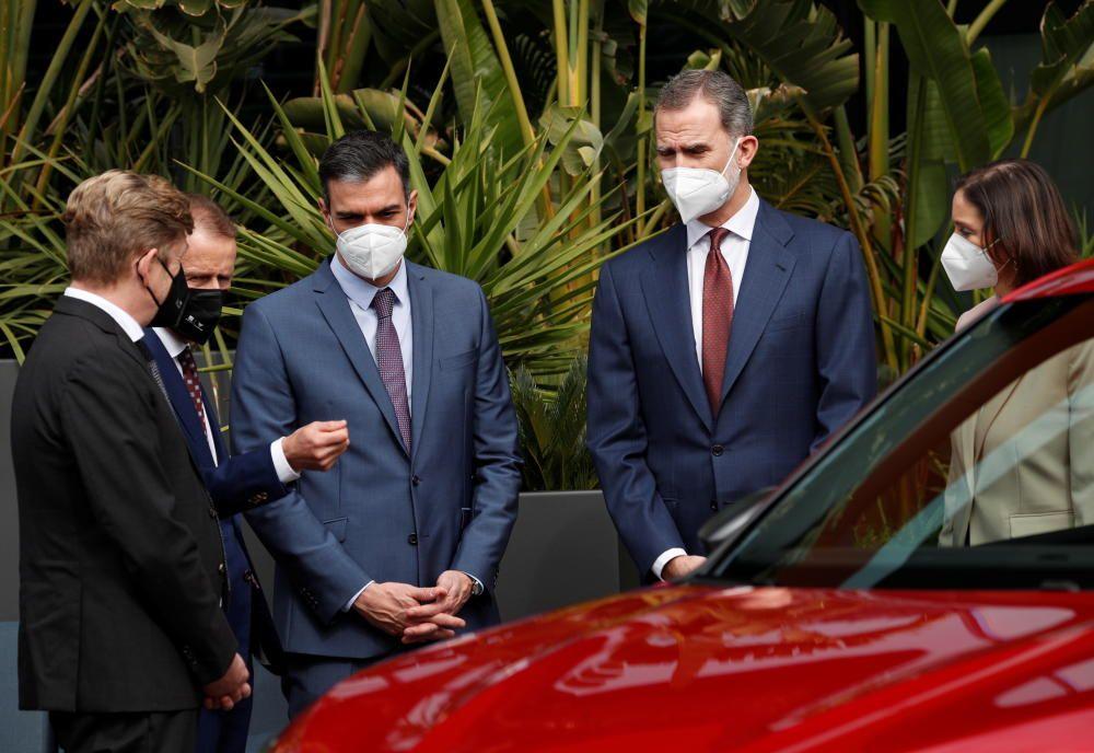 La visita del rei Felip VI i Pedro Sánchez a la Seat de Martorell