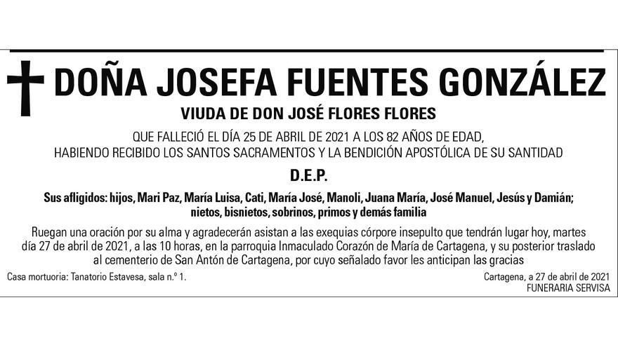 Dª Josefa Fuentes González