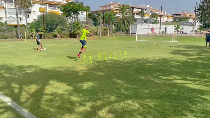 Benito Ramírez entrena en Marbella