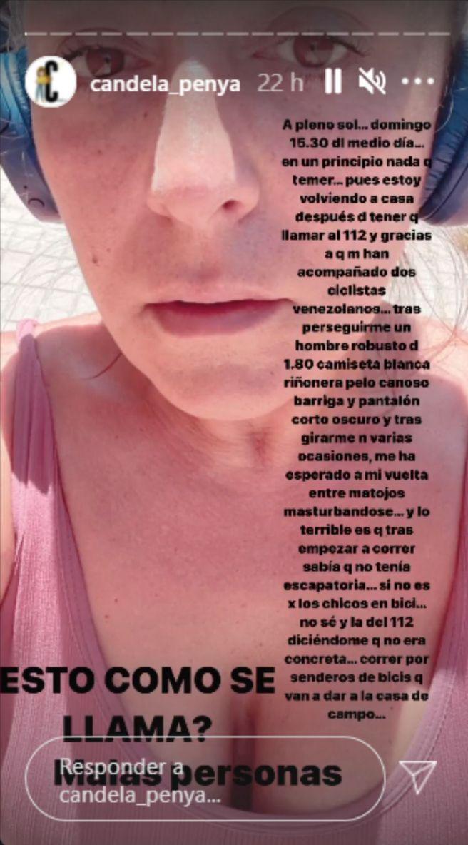 Candela Peña denuncia un episodio de acoso sexual