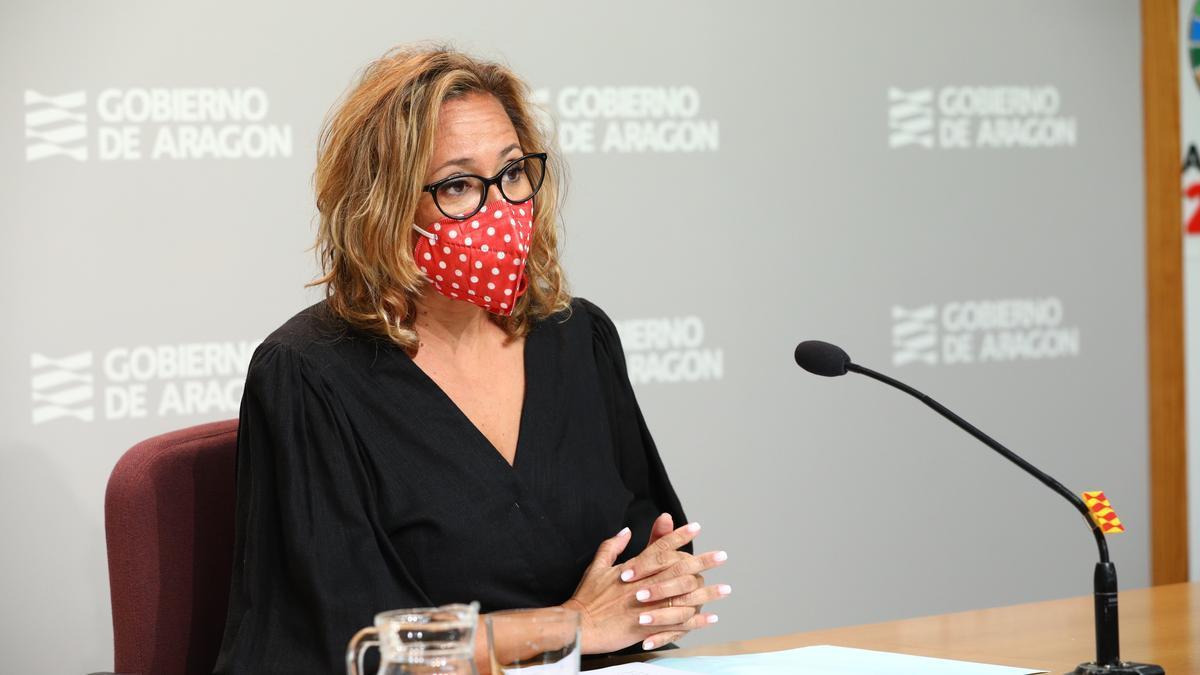 Mayte Pérez, durante la rueda de prensa posterior al Consejo de Gobierno.