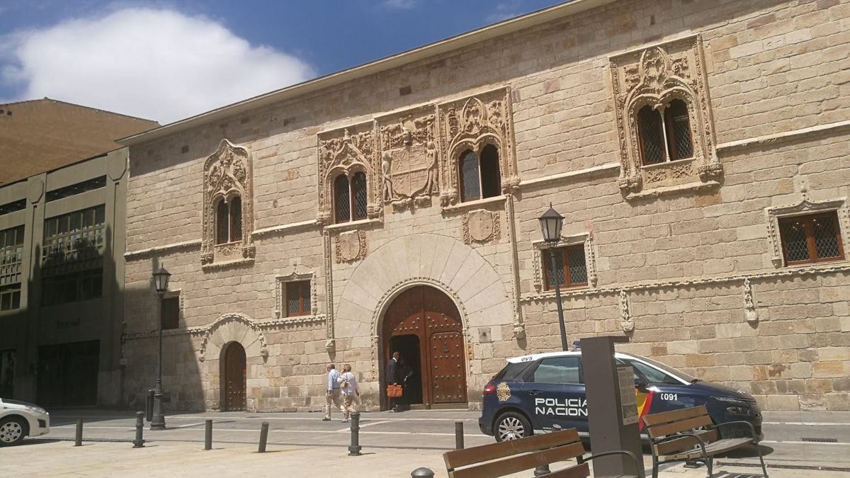 Exterior de los juzgados de Zamora.