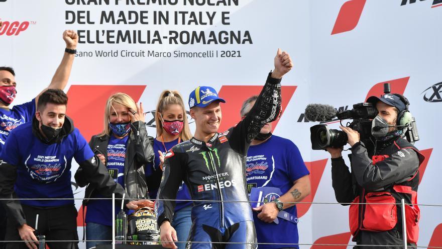 Márquez gana el GP de Emilia Romaña y Quartararo conquista el título