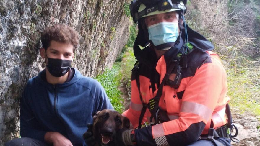 Rescate de un perro en el Tajo de Ronda