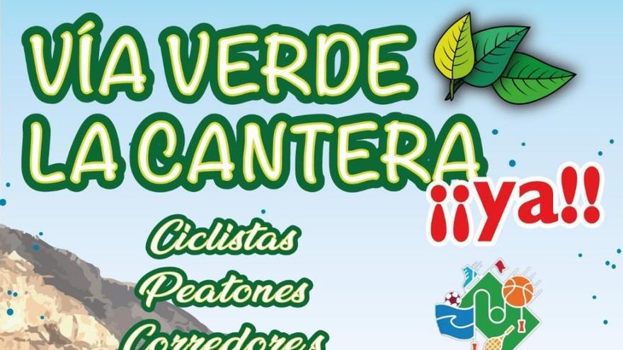 Protesta deportiva mañana para reclamar la ejecución de la vía verde de la Cantera