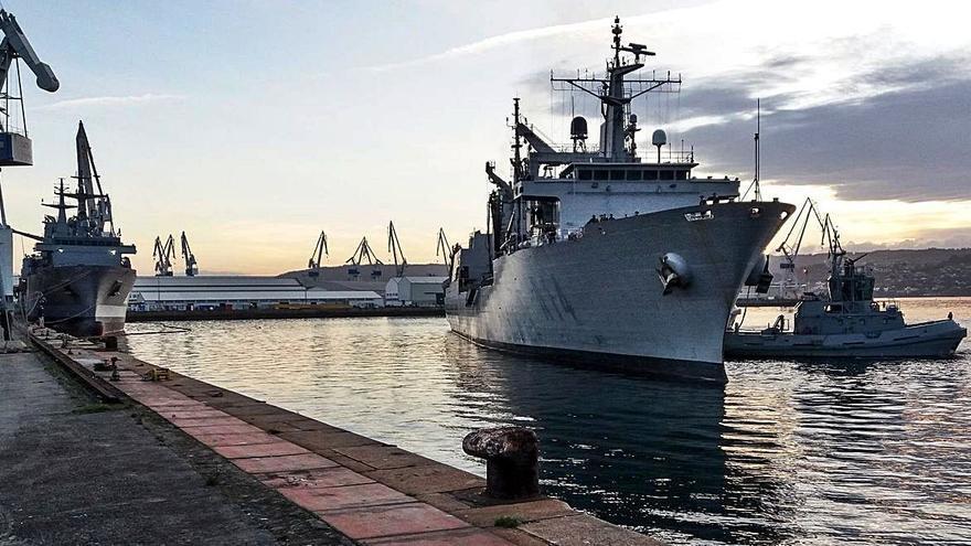 El 'Patiño' regresa a su base de Ferrol