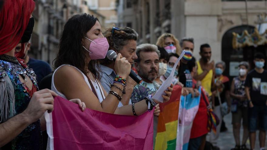 Concentración en Cartagena por la subida de agresiones por LGTBI fobia