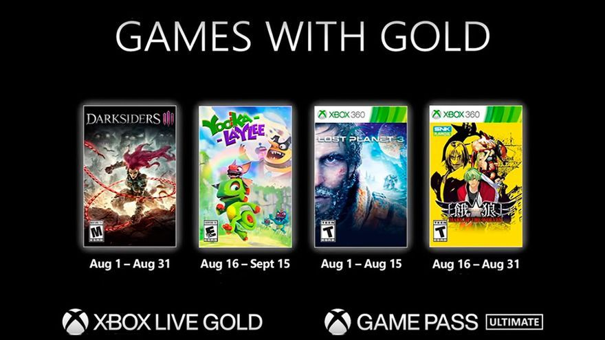 Darksiders III y Lost Planet 3 destacan entre los Games with Gold de agosto de 2021