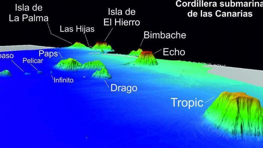 Los montes submarinos canarios tienen metales raros para atender la demanda mundial durante diez años