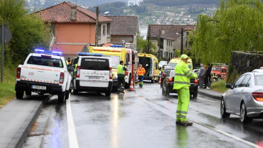 Un herido muy grave en un accidente en Vilaboa