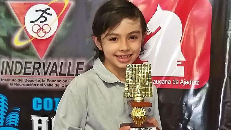 El jove escaquista altempordanès Ángel Ladino queda campió sub-8 de Colòmbia