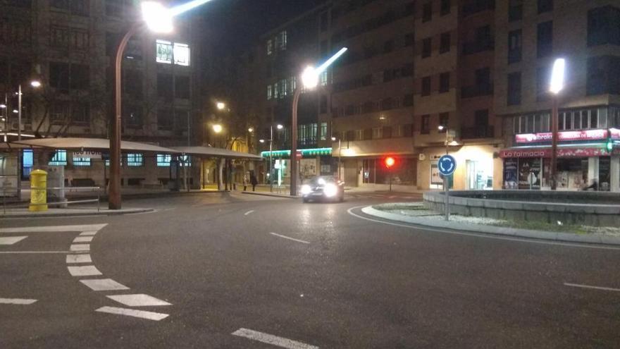 Plaza de Alemania, esta mañana.