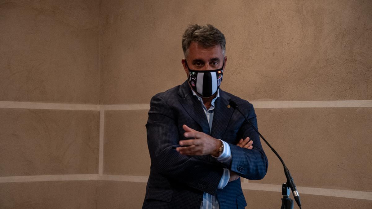 El empresario y dueño del CD Badajoz Joaquín Parra.