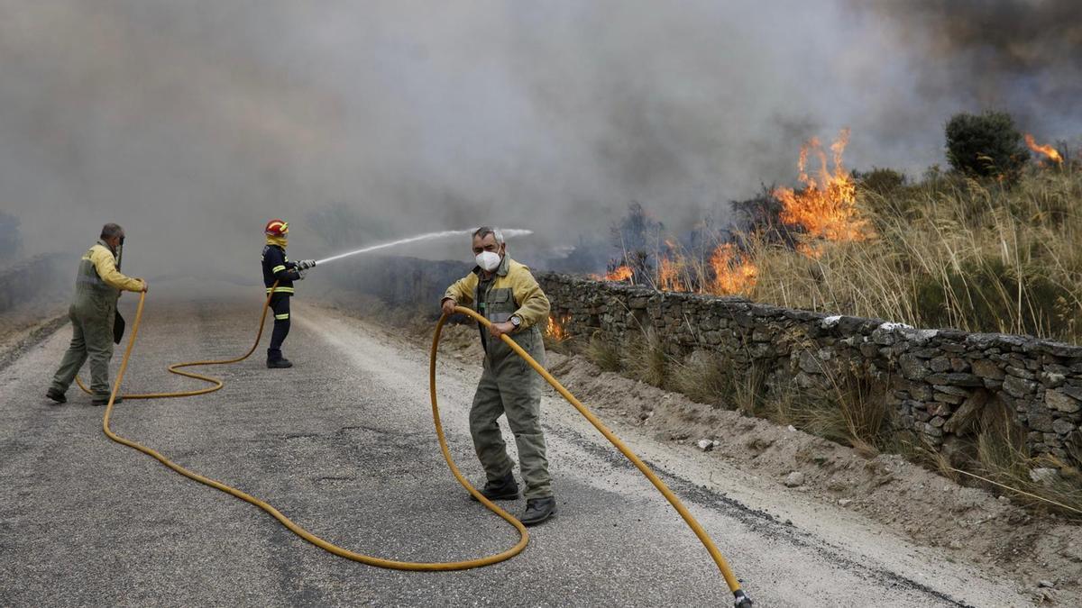 Incendio en Carbajosa de Alba.