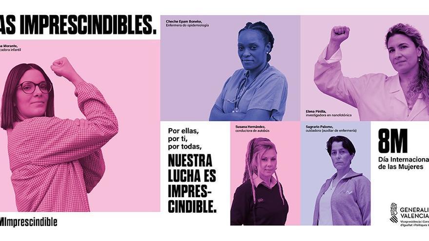 El PSOE pide a su socio de gobierno que respalde el cartel del 8-M del Consell que se niega a distribuir
