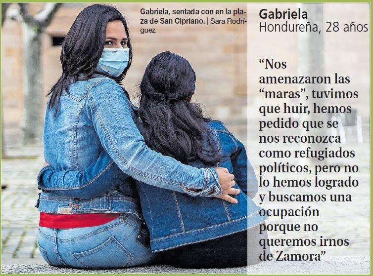 Gabriela, con su hija.
