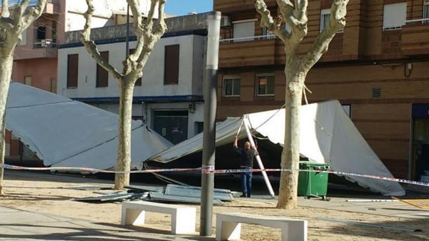 Tres heridas en Gandia y uno en Oliva por incidencias relacionadas con el viento