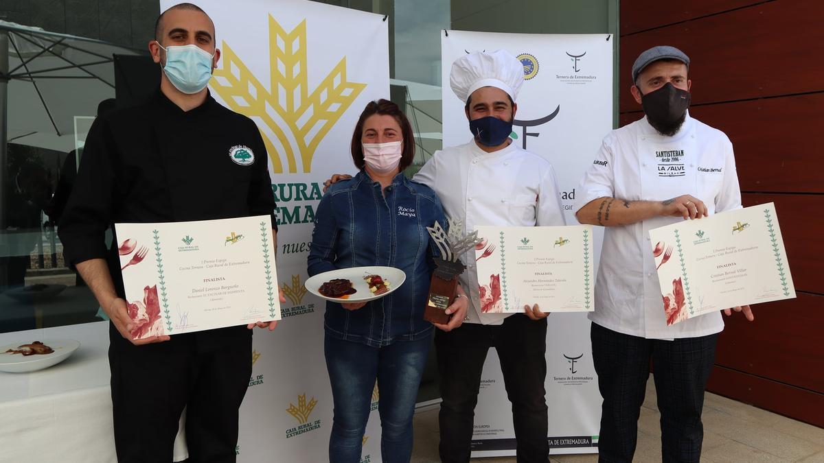 Rocío Maya junto a los otros chefs galardonados.