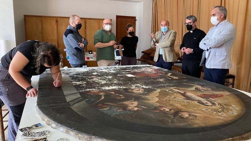 El cuadro de la visión de San Antonio de Padua permanecerá expuesto en la parroquia del barrio