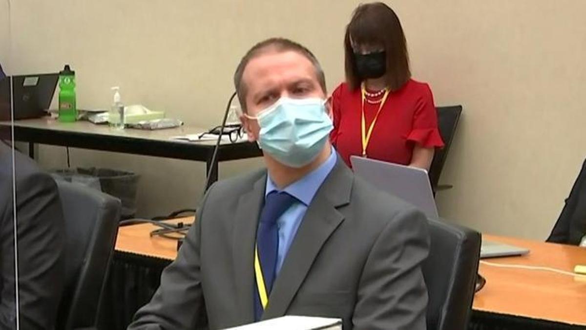 Derek Chauvin, durante el juicio.