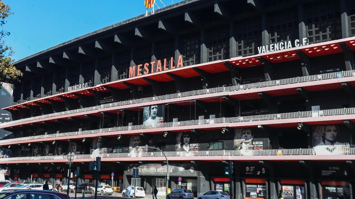Exterior de Mestalla en una imagen de archivo.