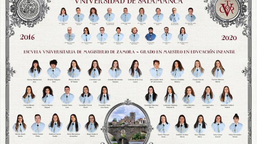 Descarga ya la orla del Grado de Maestro en Educación Infantil en Zamora