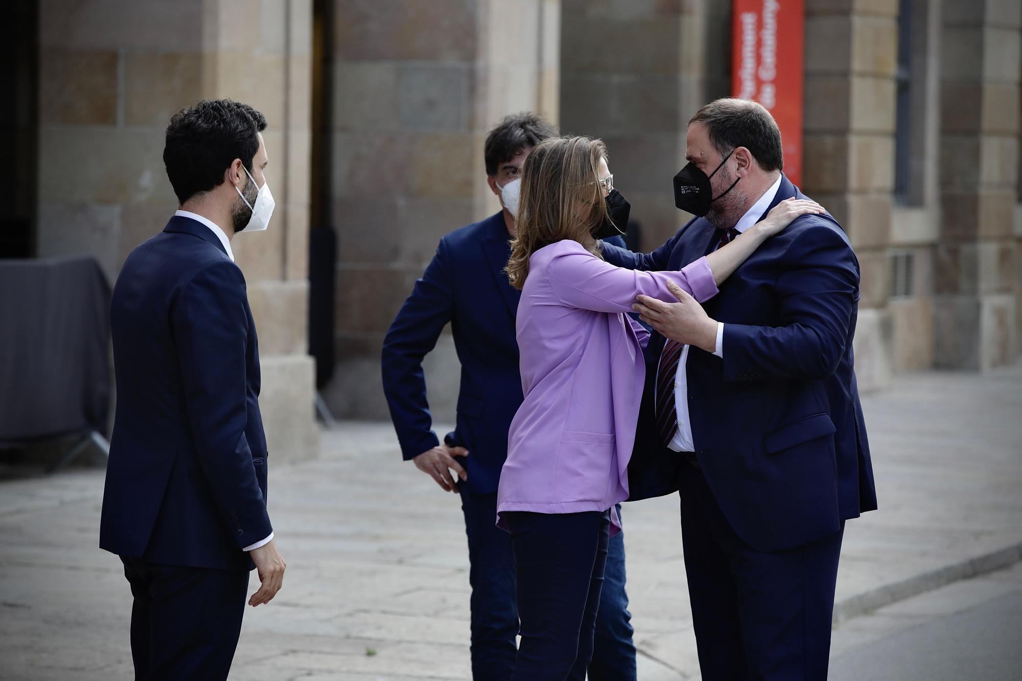 Oriol Junqueras retorna al Parlament