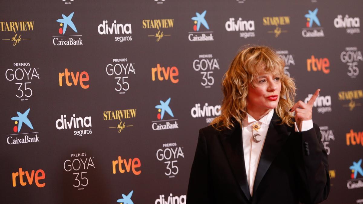 Emma Suárez, en los Premios Goya 2021