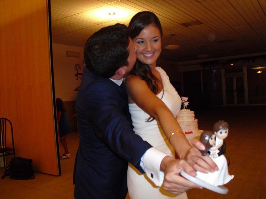 Maje y Antonio, el día de su boda.