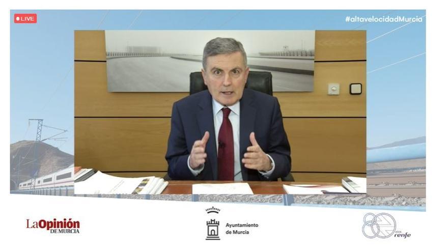Alta Velocidad en Murcia | Pedro Saura: «Las palabras se las lleva el viento, las obras no»