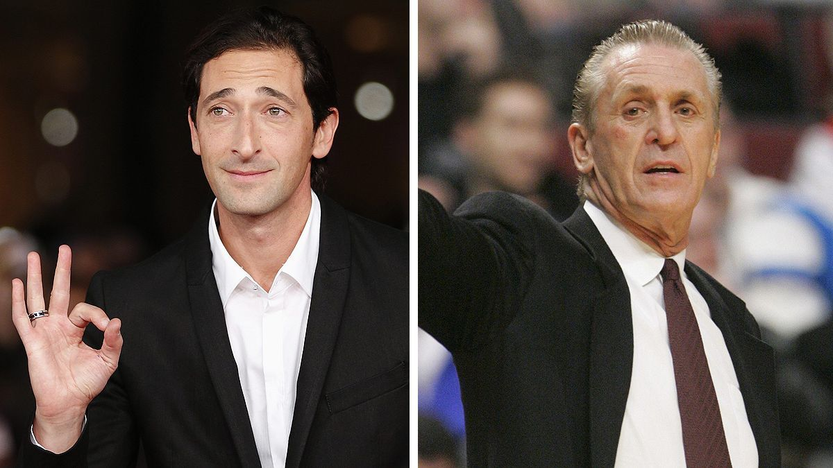 Adrien Brody and Pat Riley.