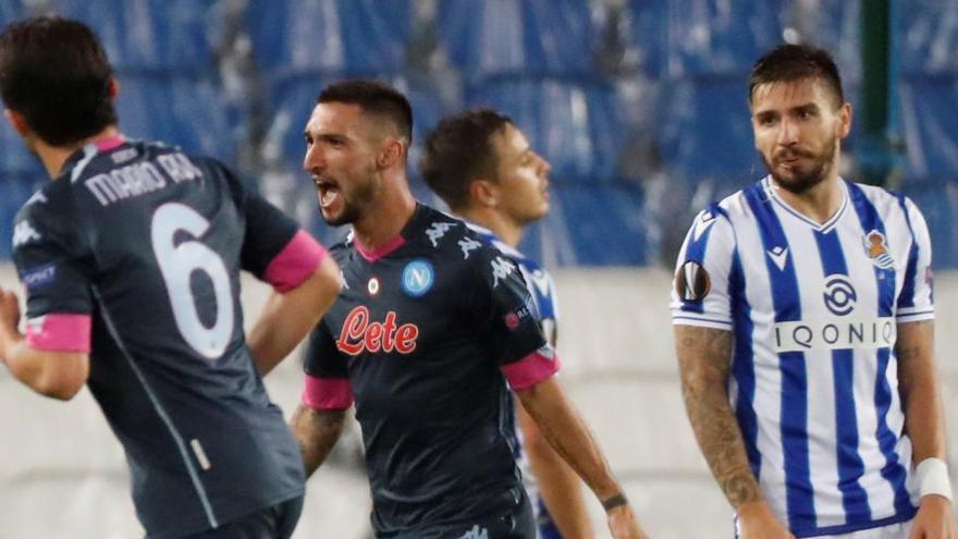 El Nápoles asalta Anoeta y puede con la Real Sociedad