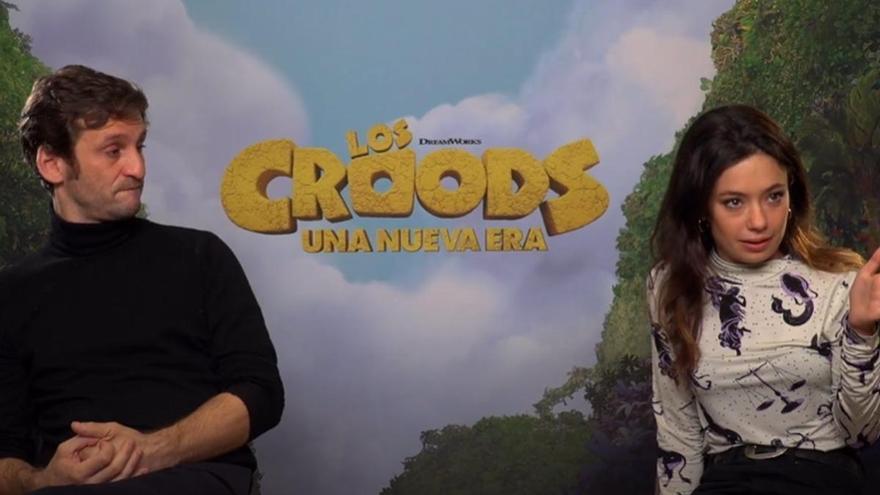 Anna Castillo y Raúl Arévalo debutan en el doblaje con 'Croods: Una nueva era'