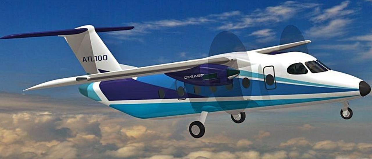 Recreación del ATL-100 que se desarrollará en Portugal.