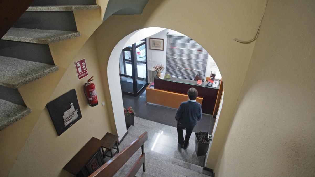 L'interior de l'Hotel Europa de Girona, un dels que ha ofert l'espai