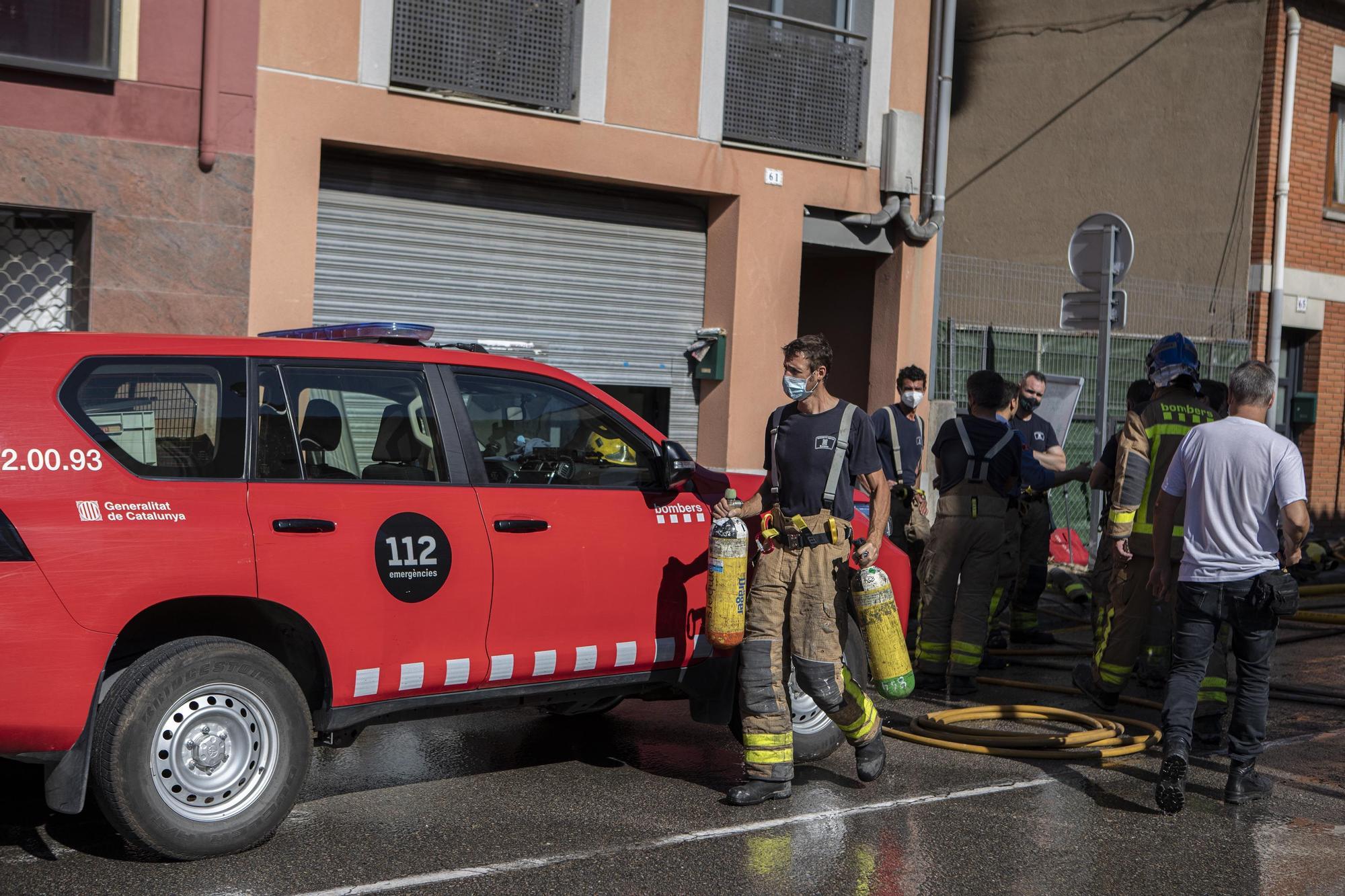 Incendi en un bloc de pisos a Breda