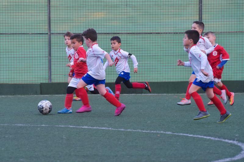 24-01-2020 GALDAR. Futbol prebenjamín: Unión Moral # Firgas, en el campo Venancio Monzón de la Ciudad Deportiva San Isidro  | 25/01/2020 | Fotógrafo: Andrés Cruz