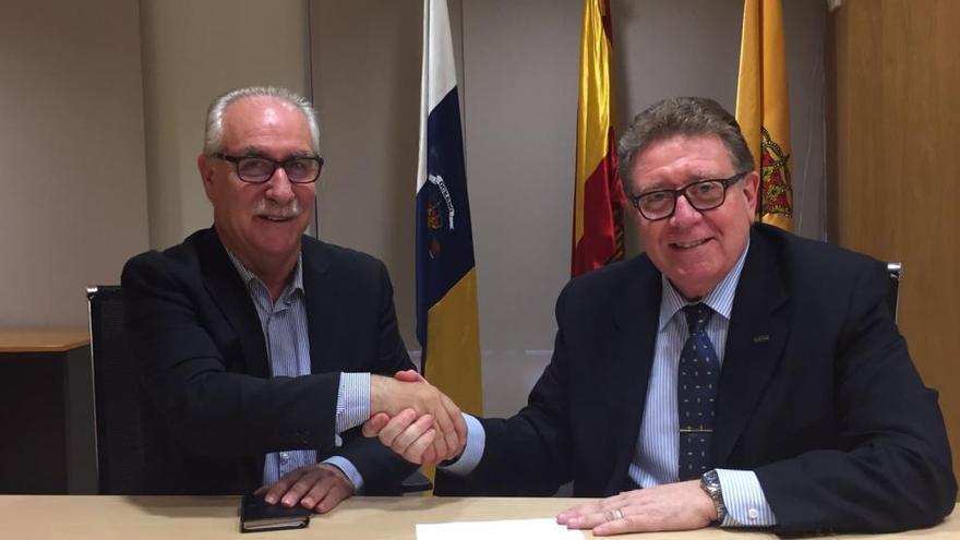El Cabildo firma un convenio con Fujifilm para reducir la salinidad del agua