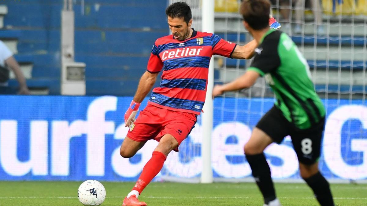 El meta contra el Sassuolo.