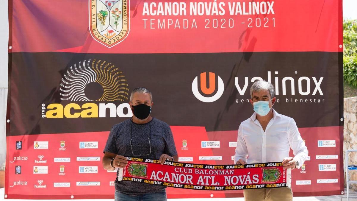 Los gerentes de las empresas Acanor y Valinox.